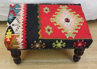R7036 Rug Store Kilim Footstool