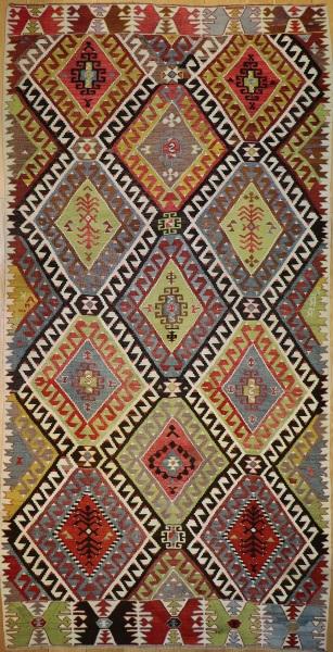 R9081 Rug Store Vintage Turkish Antalya Kilim Rugs