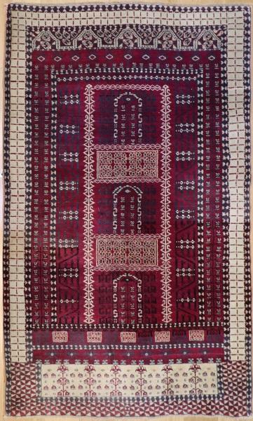 R6471 Antique Saryk Turkmen Rug