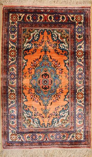 R9389 Silk Hereke Turkish Rug