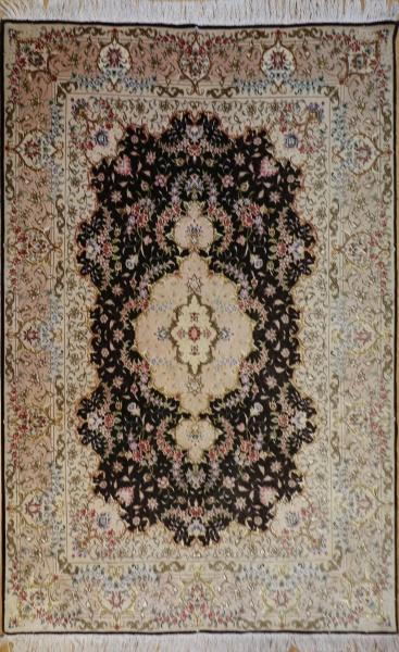 R9388 Silk Qum Persian Rug