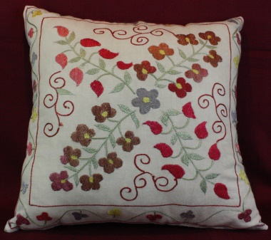 C13 Silk Suzani Cushion