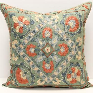 C4 Silk Suzani Cushion Cover