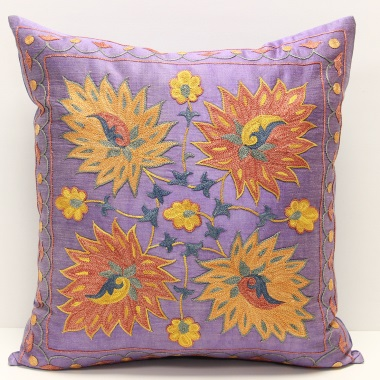 C6 Silk Suzani Cushion Cover
