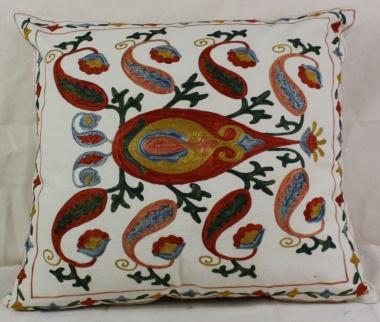 C18 Silk Suzani Cushion Cover