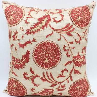 C23 Silk Suzani Cushion Cover