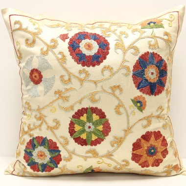 C27 Silk Suzani Cushion Cover