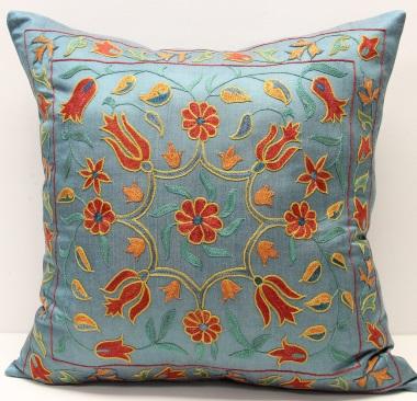C29 Silk Suzani Cushion Cover
