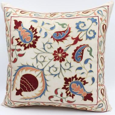 C32 Silk Suzani Cushion Cover