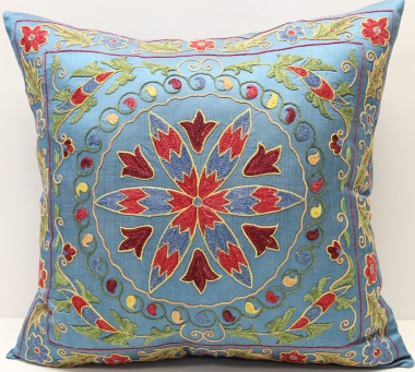 C33 Silk Suzani Cushion Cover