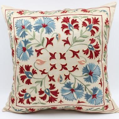 C35 Silk Suzani Cushion Cover