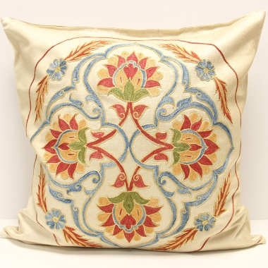 C40 Silk Suzani Cushion Cover