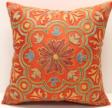 C41 Silk Suzani Cushion Cover