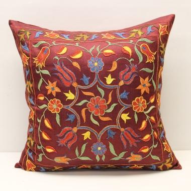 C50 Silk Suzani Cushion Cover