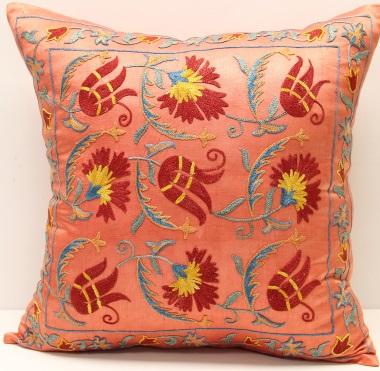 C53 Silk Suzani Cushion Cover