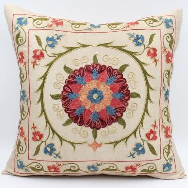 C54 Silk Suzani Cushion Cover