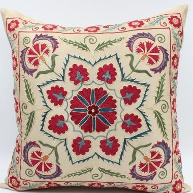 C57 Silk Suzani Cushion Cover