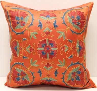 C61 Silk Suzani Cushion Cover
