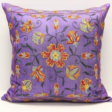 C13 Silk Suzani Cushion Pillow Cover