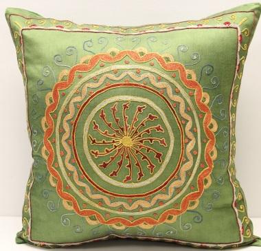 C15 Silk Suzani Cushion Pillow Cover