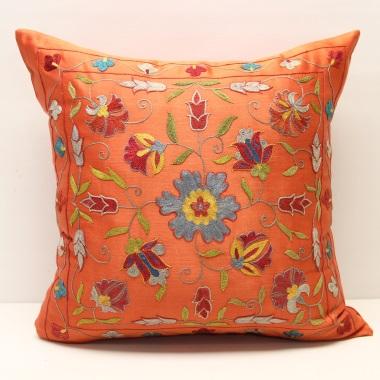 C63 Silk Suzani Cushion Pillow Cover