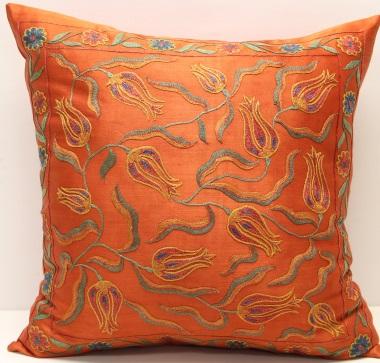 C65 Silk Suzani Cushion Pillow Cover