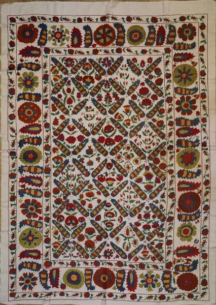 R4886 Silk Suzani Embroidery Rug