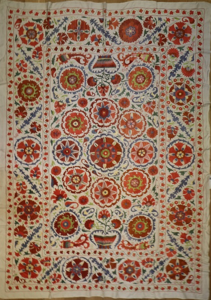 R4896 Silk Suzani Embroidery Rug
