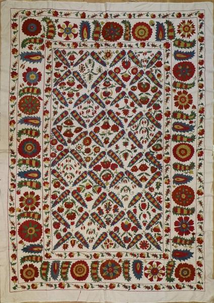 R4890 Silk Suzani Embroidery Rugs