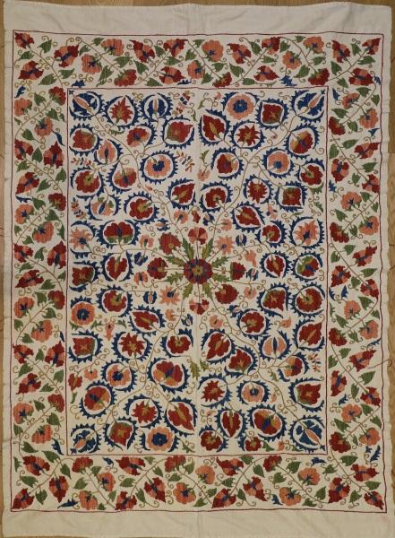 R8454 Silk Suzani Embroidery Rugs