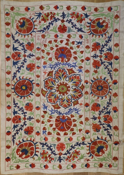R4888 Silk Suzani Embroidery Wall Hanging Rugs