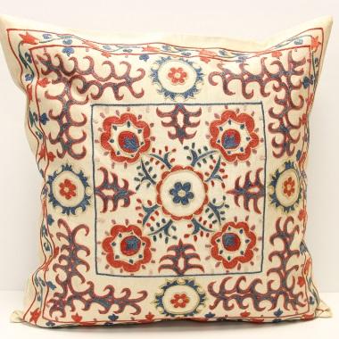 C45 Silk Suzani Pillow Cover
