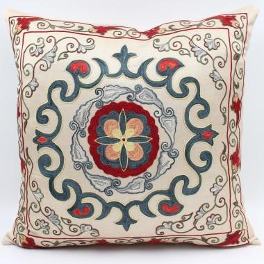 C60 Silk Suzani Pillow Cover