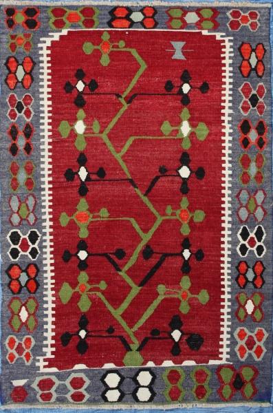 R7093 Small Turkish Kilim Rug