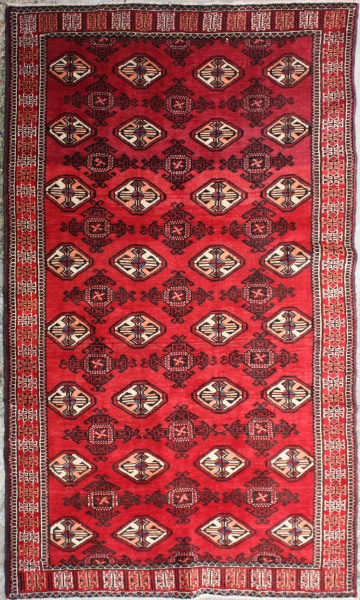 Decorative Handmade Turkmenistan Tekke Carpet R5798