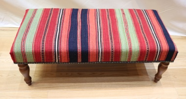R7728 Traditional Antique Large Bench Kilim Stool