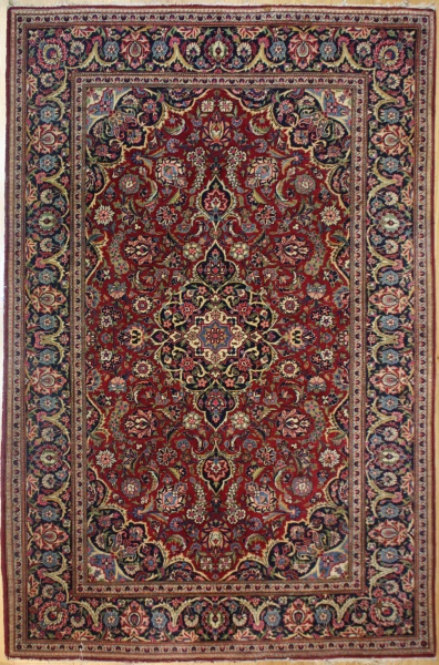 Traditional Antique Persian Kashan Carpet R7974