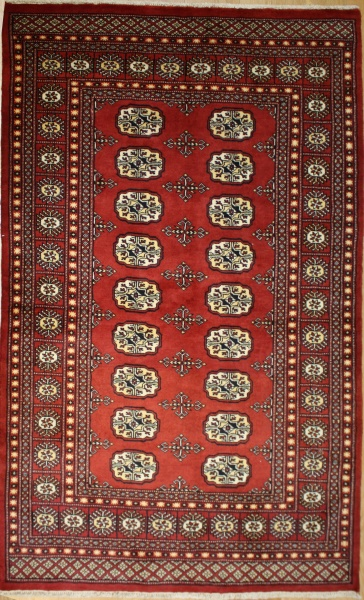R8639 Traditional Pakistan Bokhara Rug