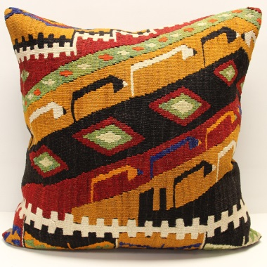 XL436 Turkish Anatolian Kilim Cushion Cover