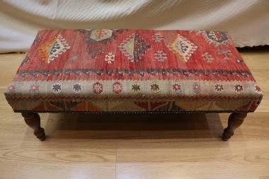 R7603 Turkish Bench Kilim Stool