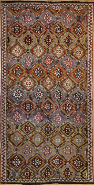 R7344 Turkish Cicim Rug