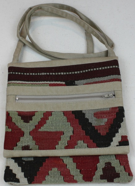 Turkish Hand Woven Kilim Handbag H105