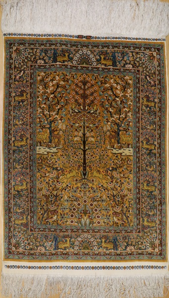 R7997 Turkish Hereke Silk Carpets