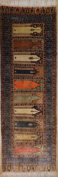 R7761 Turkish Kayseri Silk Floss Carpet Runner