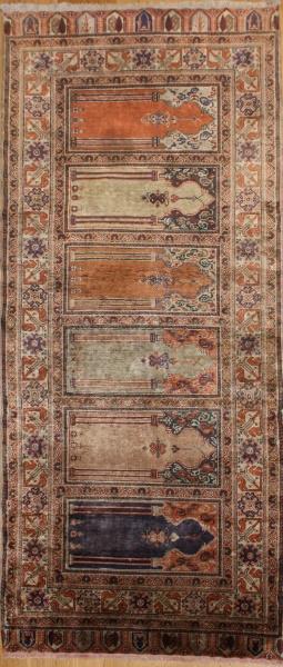 Turkish Kayseri Silk Floss Carpet Runner R8612