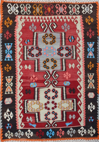 R1868 Beautiful Turkish Kayseri Kilim
