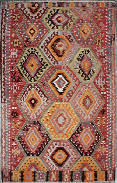 R6529 Vintage Turkish Kilim Rugs
