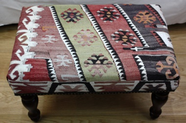 R5272 Turkish Kilim Footstool