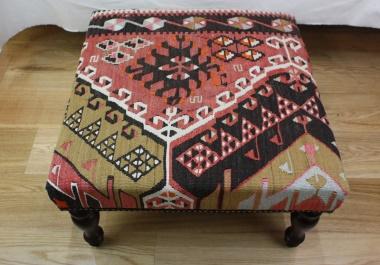 R4061 Turkish Kilim Stool Table