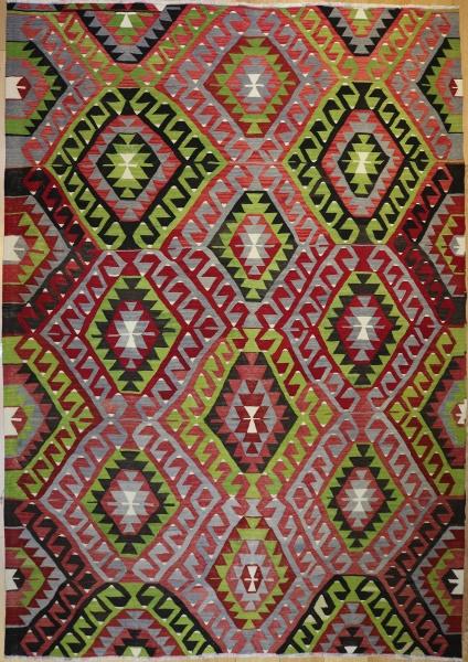 R7167 Turkish Kula Kilim Rug